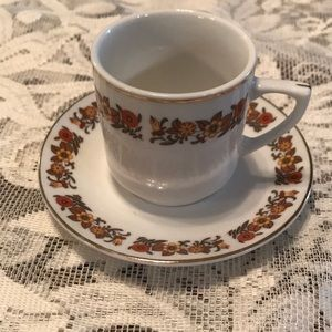 Demitasse fall colors teacup & saucer China